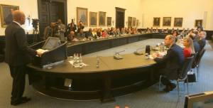 Discours du Chef de l'Etat à la Chambre de Commerce de Hambourg