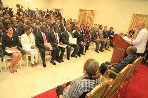 Cérémonie d'investiture du nouveau Cabinet ministériel ce Lundi 19 janvier 2015 au Palais National