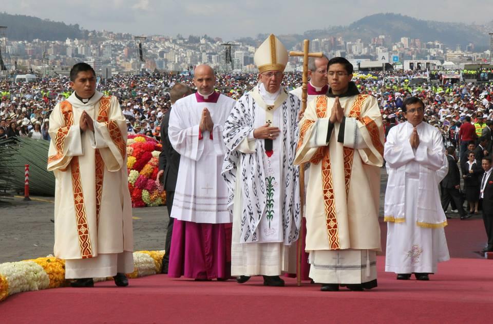 Arrivée du souverain pontife