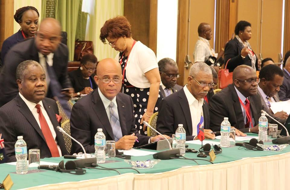 Participation du Président de la République à la premières séance plénière du 36ème sommet des Chefs d'Etat de la CARICOM