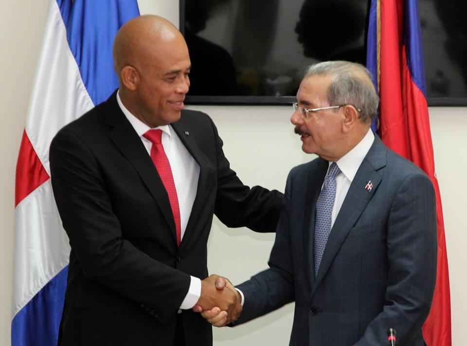 Le Président de la République, S.E.M Michel Joseph Martelly et son homologue dominicain, M. Danilo Médina