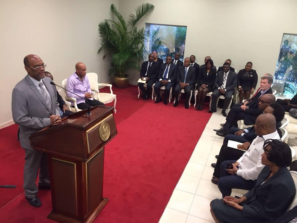 Au Palais National, à la cérémonie d'investiture du Comité National de Lutte contre la Traite des Personnes
